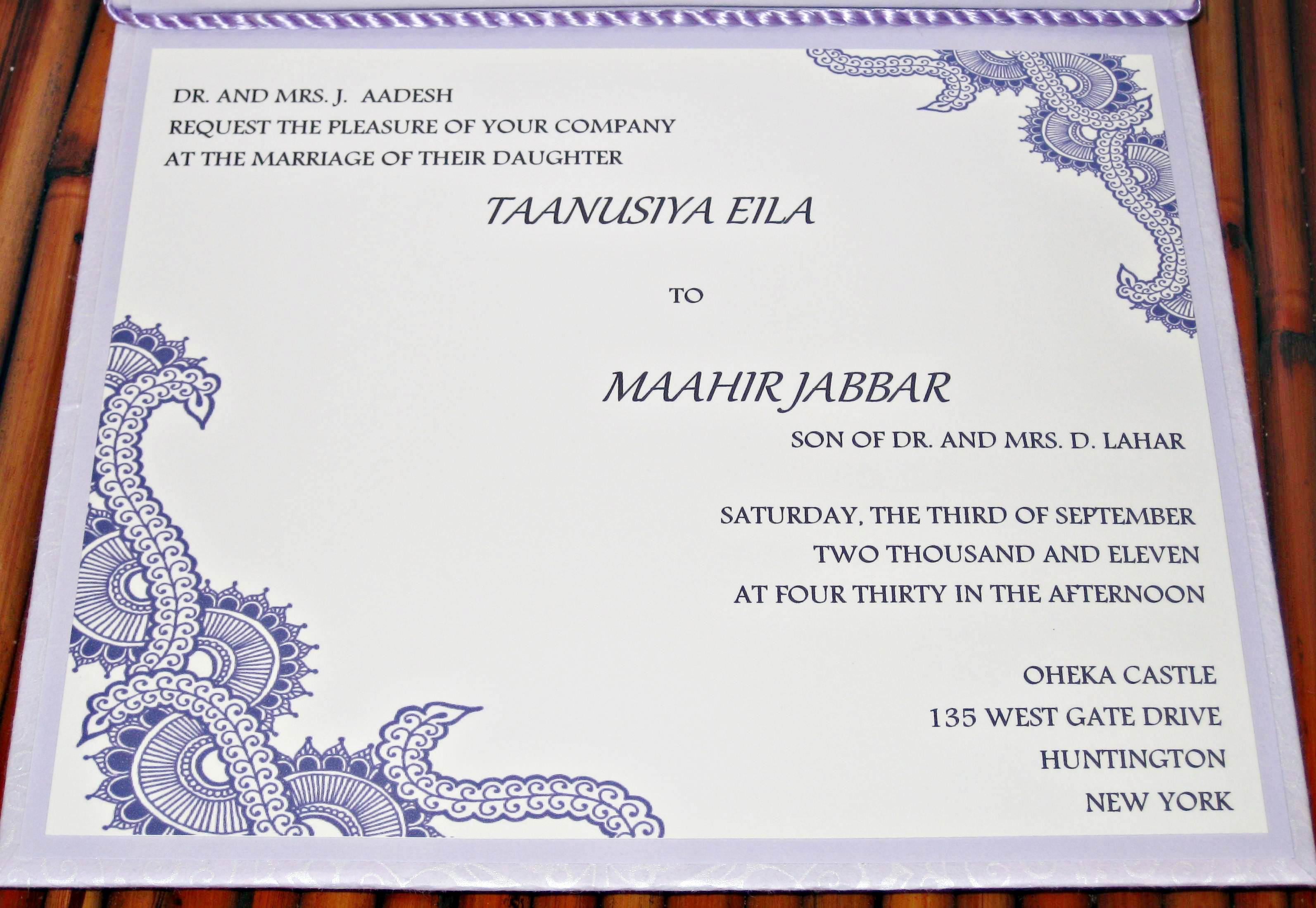 Annemarie prinsloo creations wedding invitation pictures purple wedding invite purple wedding invite m4hsunfo
